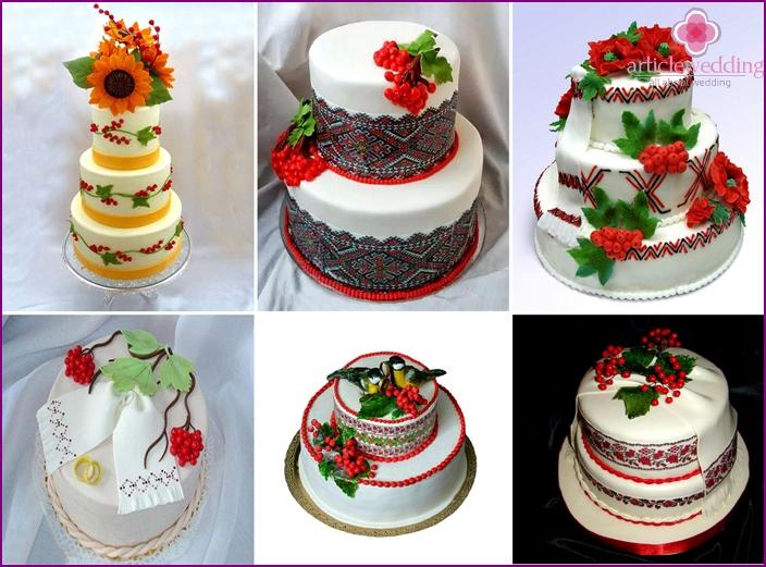 Ukrainan tyyliin kakku viburnum