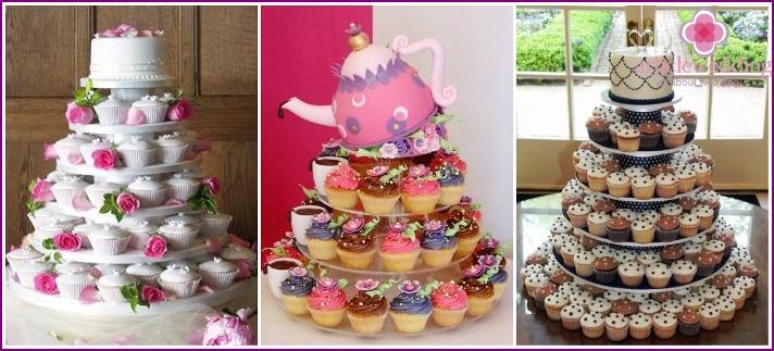 Hochzeit Cupcake Kuchen
