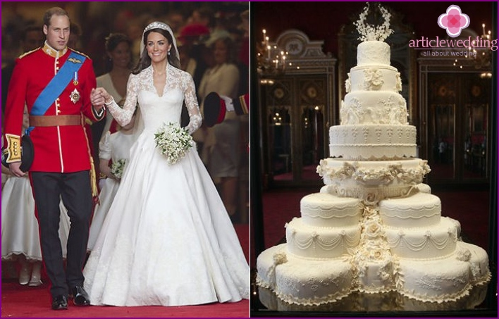Royal wedding dessert of Prince William and Kate
