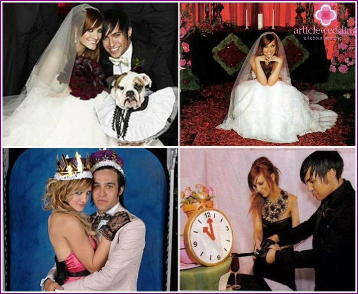 The original wedding cake Simpson and Wreath