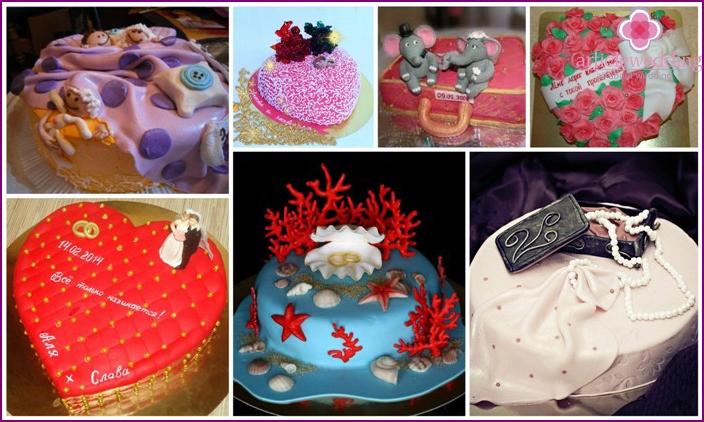 Avioliittopäivän alkuperäiset kakkuideat