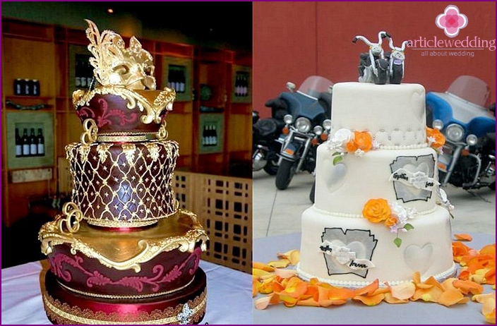 Themed desserts with mastic for the wedding