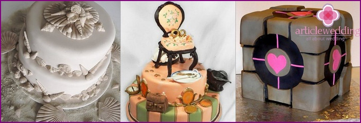 Stylish wedding cakes with mastic
