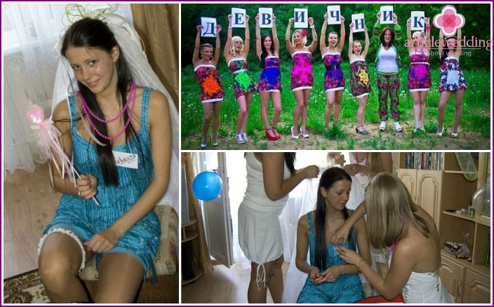 Preparation for a bachelorette party: the bride and her girlfriends