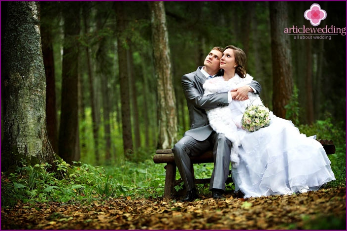 A wedding in nature is romantic