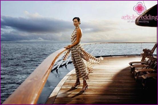 Romantic evening on a yacht
