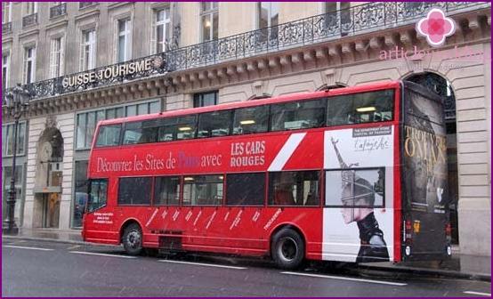 Double decker tourist bus