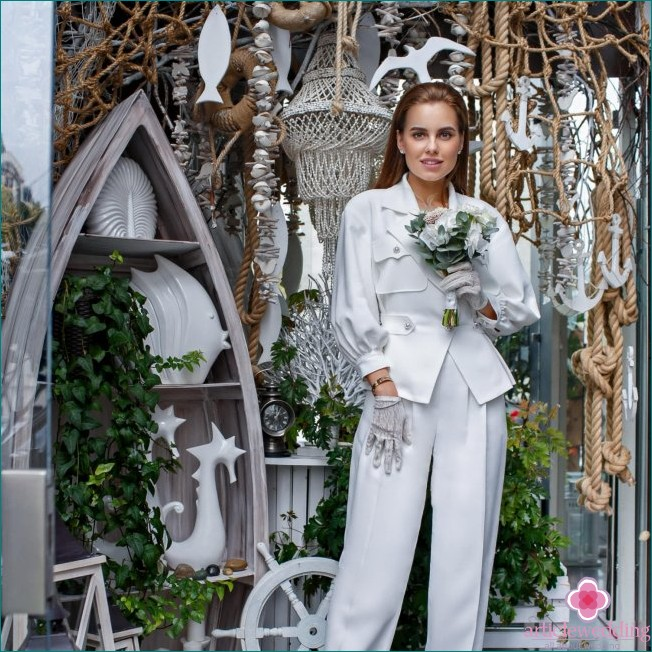 Bride in a pantsuit
