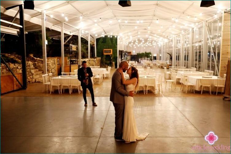 An empty wedding due to the coronavirus epidemic