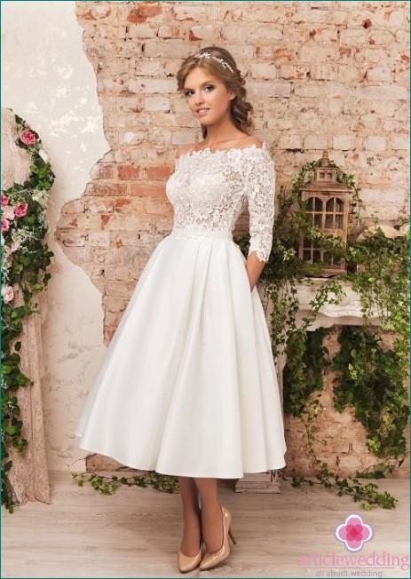 Lace Sleeve Midi Dress