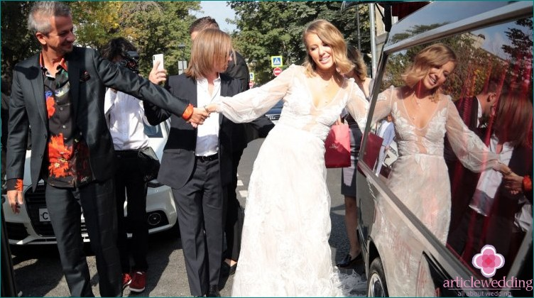 The wedding of Ksenia Sobchak and Konstantin Bogomolov
