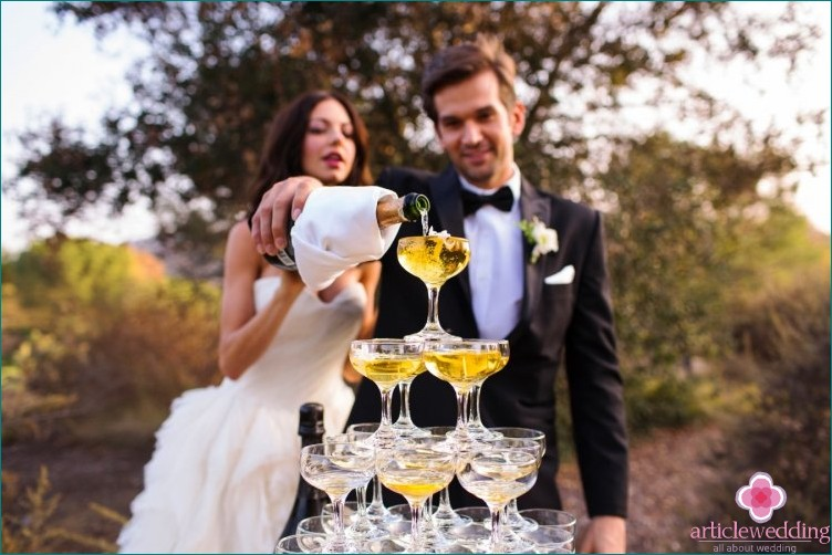 Choose alcohol for the wedding