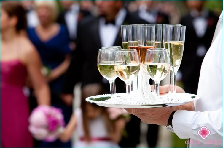 Wedding champagne trays