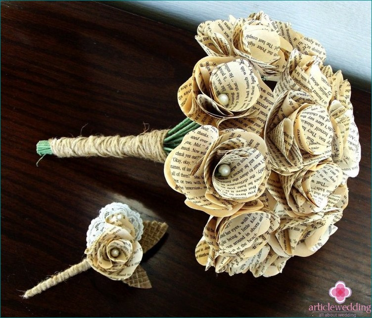Book page buttonhole
