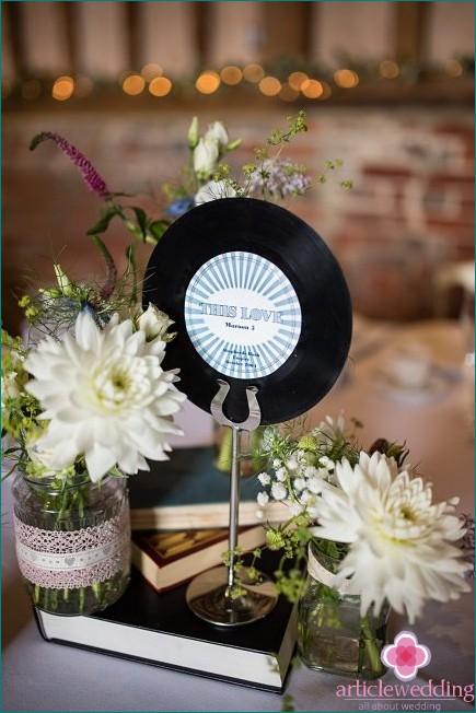 Vinyl Record Wedding Decor