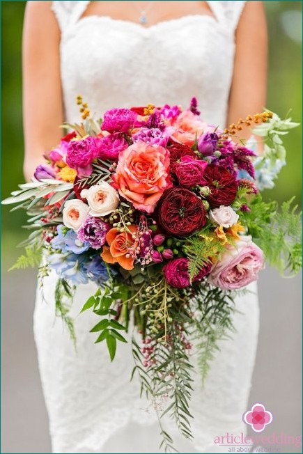 Bouquet of garden flowers