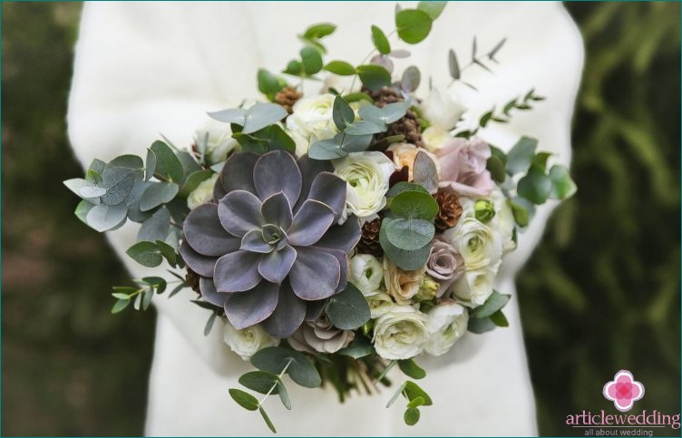 Bouquet with Succulents