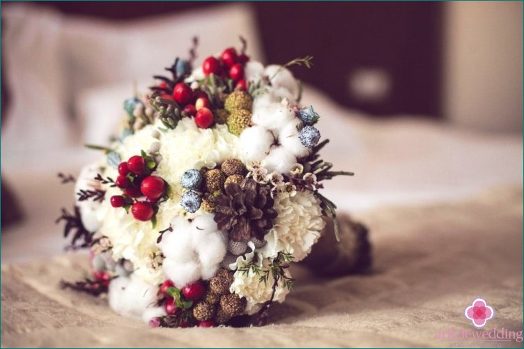 Unusual wedding bouquet