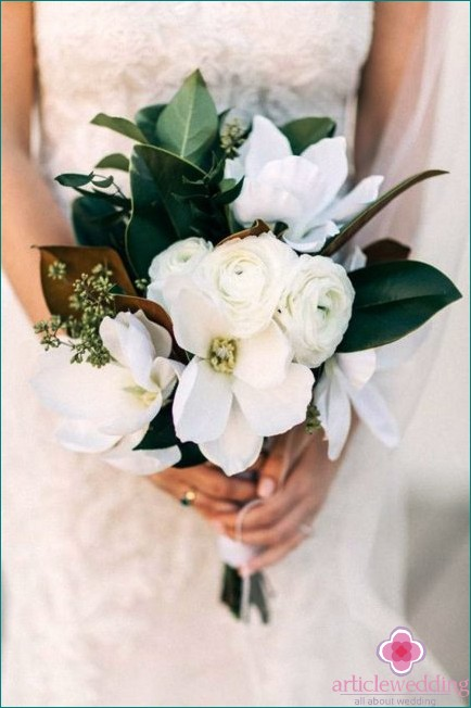 Minimalistic wedding bouquet