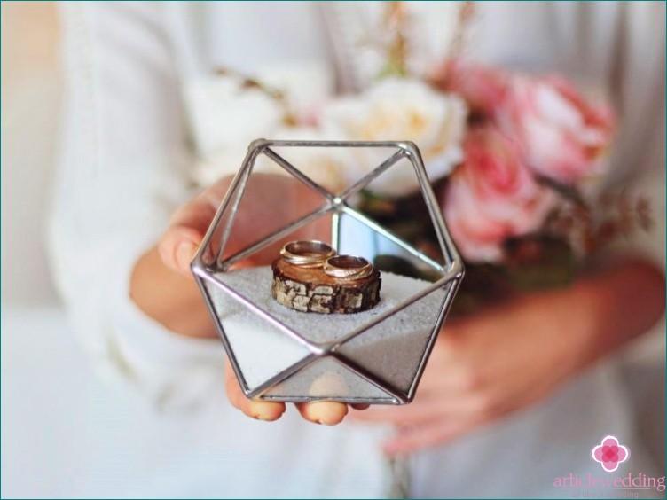 Geometry style wedding details