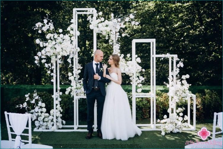 Geometry style wedding