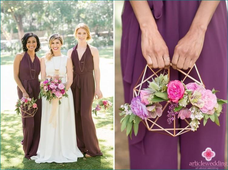 Geometric style wedding details