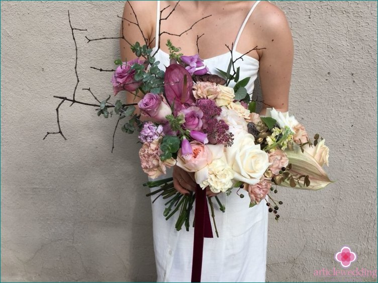 The original design of the bride's bouquet