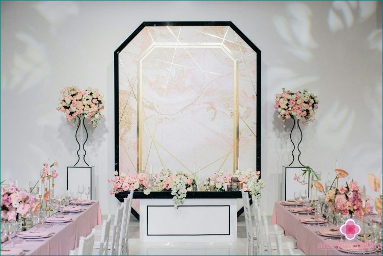 Geometric Wedding Hall Decor