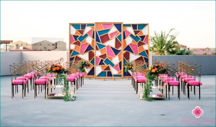 Geometric Wedding Guest Places