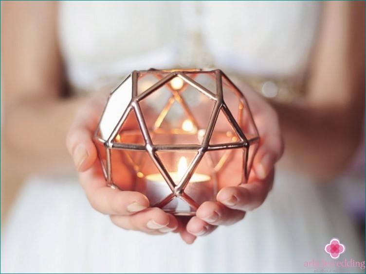 Geometric candlestick