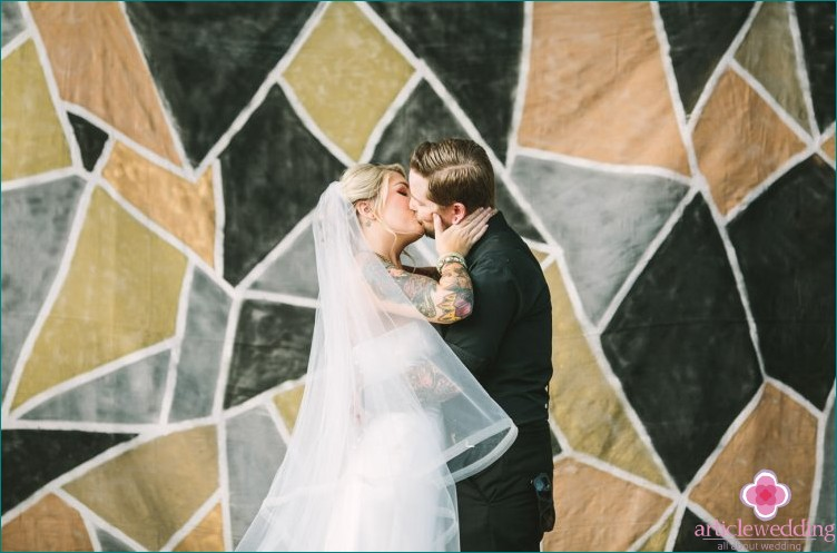 Geometry wedding photo zone
